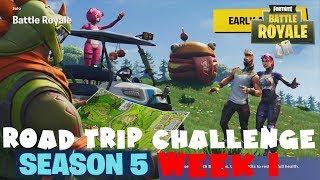 SECRET Battle Star Week 1 - Road Trip Challenge Guide - Fortnite Battle Royale Season 5