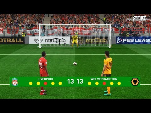 PES 2019 | Liverpool vs Wolverhampton | Penalty Shootout | Gameplay PC
