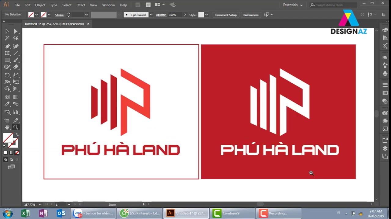 Cách thiết kế logo bất động sản, logo kiến trúc, thiết kế logo xây dựng
