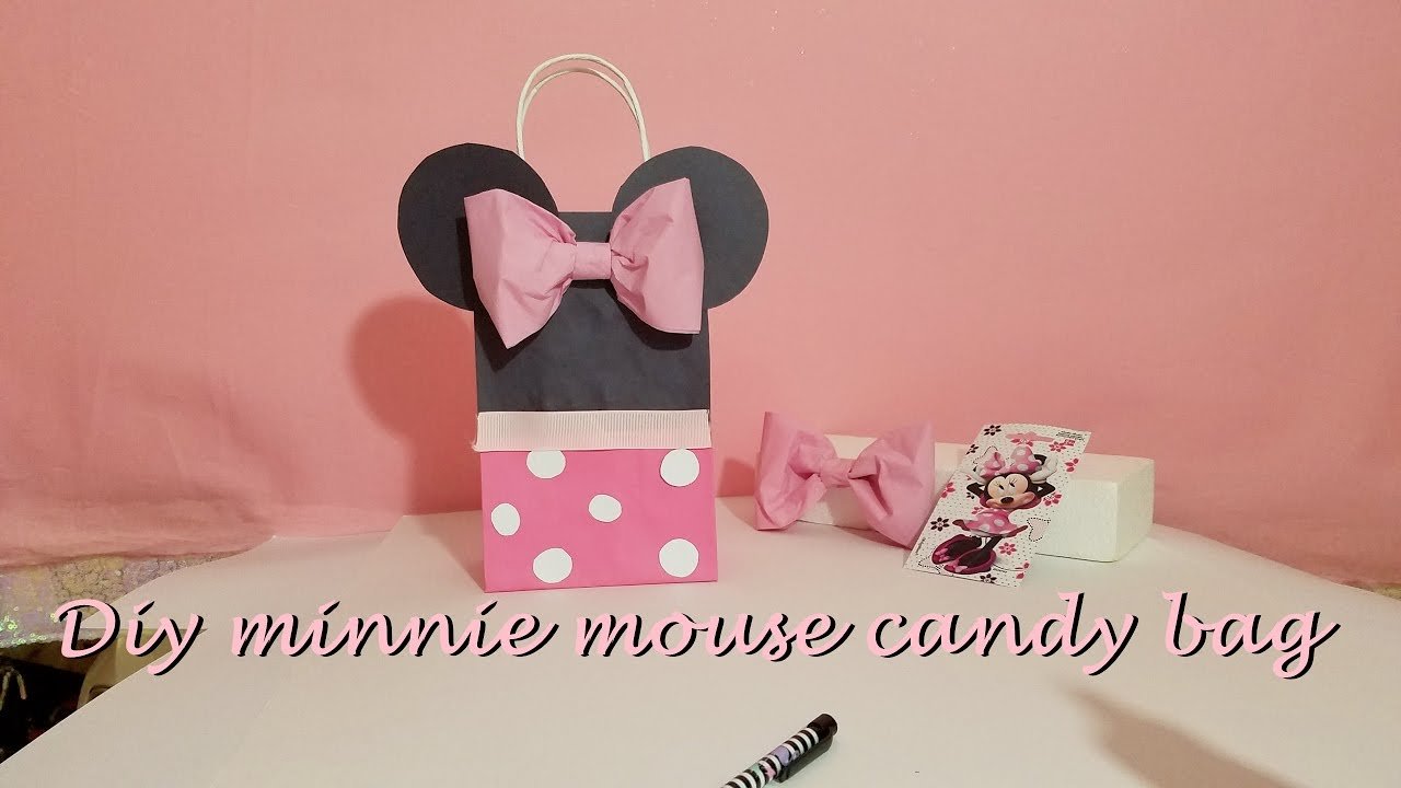 diy minnie mouse candy bag / bolsa de dulce - YouTube