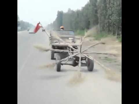 Xe quét rác tự chế vừa nhanh lại đỡ tốn công