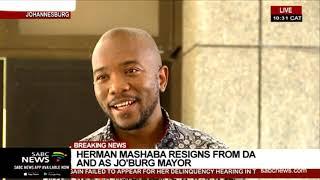 Maimane thanks Mashaba for service to DA