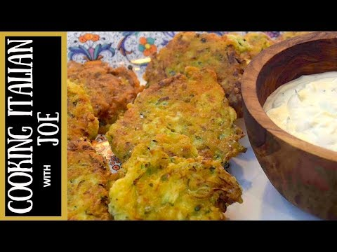 How to Make Fried Zucchini Fritters Cooking Italian with Joe