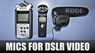 best mics for dslr video   zoom h1 zoom h4n rode videomic pro