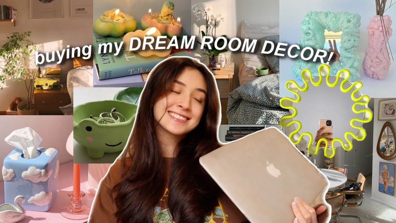 buying room decor for my DREAM ROOM! online shopping + unboxing haul