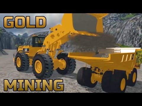 FARMING SIMULATOR 2015 |  GOLD MINING WITH CAT EQUIPMENT ON PV MAP