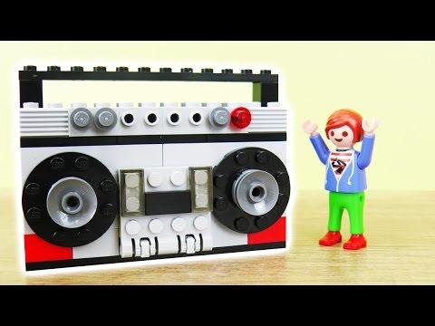 Lego MUSIK ANGLAGE FÜR JULIAN VOGEL bauen deutsch | COOLE BOOMBOX selber machen