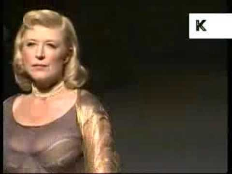 1997 Marianne Faithfull on London Fashion Week Catwalk, Archive Footage