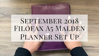 SEPTEMBER PLANNER SET UP | FILOFAX MALDEN A5