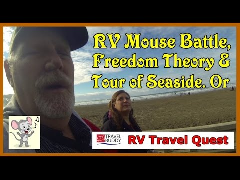 RV MOUSE BATTLE! | Freedom Theory & Tour of Seaside Or.  | RV Travel Quest Fulltime Travel