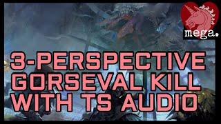 Gorseval Kill  Triple Viewpoint (PS Warrior Tempest Chronotank)  Teamspeak Audio