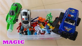 Best Magic for Kids to Learn Colors with Box of Toys Super Police Car Children Pretend Play Video