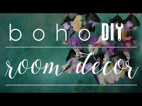 DIY Boho Floral Room Decor