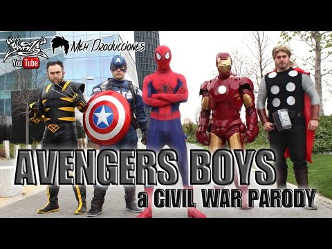 AVENGERS - CIVIL WAR - BackstreetBoys PARODY (Everybody)