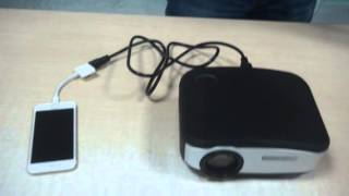 Video How to  Connect Tronfy C6 Projector with iPhone6 download MP3, 3GP, MP4, WEBM, AVI, FLV Agustus 2018
