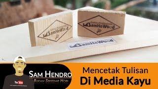 Cara Mudah Cetak Tulisan Di Media Kayu | Creative Idea | Handcraft