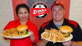 Zark's Jawbreaker Burger Challenge in Manila, Philippines!!