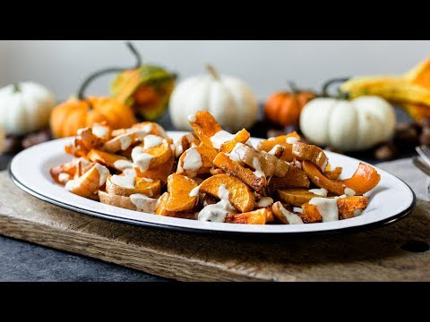 Spiced Butternut Squash with Tahini Sauce