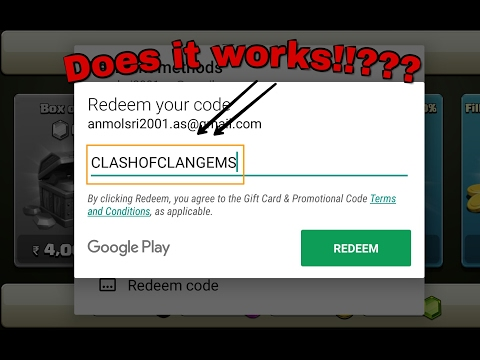 Redeem code for clash of clans??? does it works !! Must watch