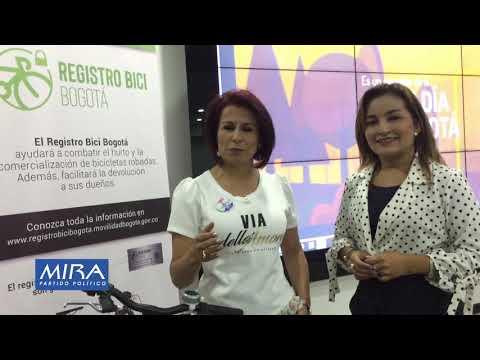 Empieza marcación de bicicletas en Bogotá ( Congresista Herrera y Concejal Rubio)