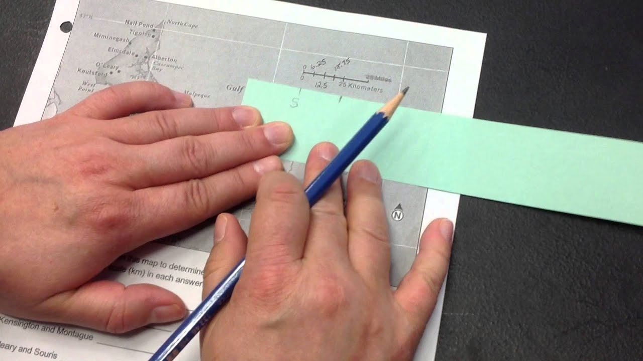 Describe How To Measure Distance Using A Topographic Map