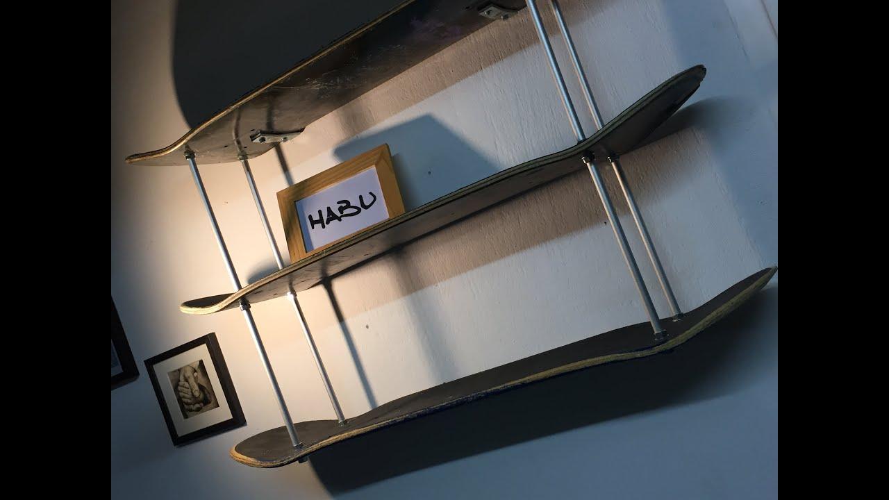 Skateboard Shelf diy | skateboard shelf - youtube