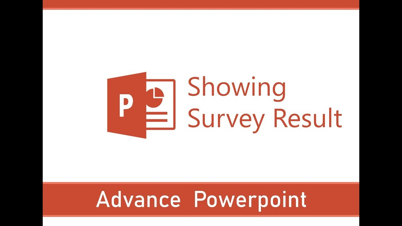 learning powerpoint advance tips and tricks showing survey result