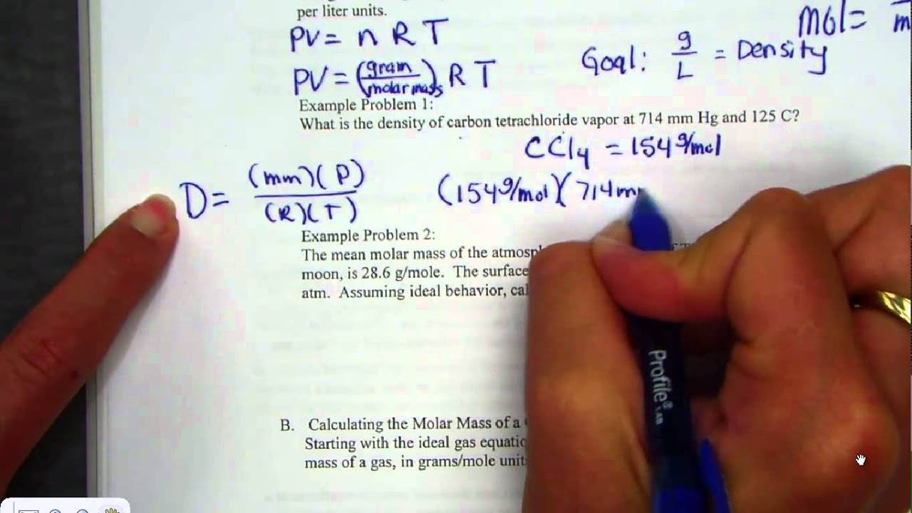 Ideal Gas Law Pv Nrt Practice Problems