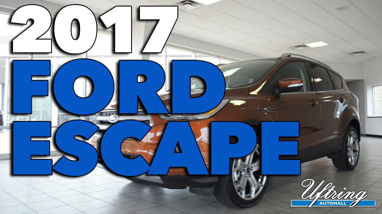 2017 ford escape review uftring automall east peoria il youtube. Black Bedroom Furniture Sets. Home Design Ideas
