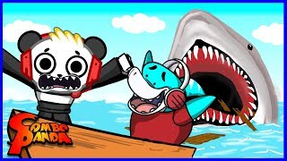 BIG GIL IS GONNA EAT ME! Big Gil Vs. Combo Panda Let's Play Roblox Sharkbite