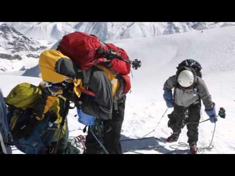 The Everest Academy team on the summit of Mera Peak