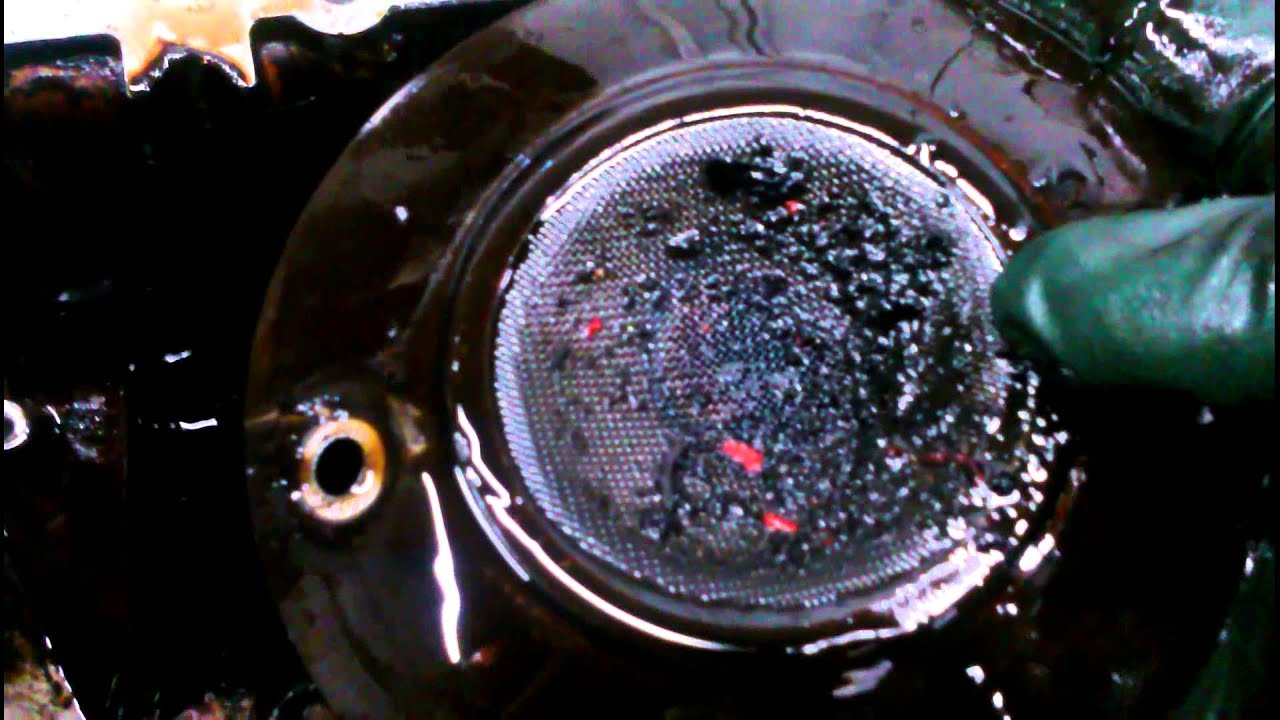 Your Saab Engine Oil Pickup Screen Looks Like This