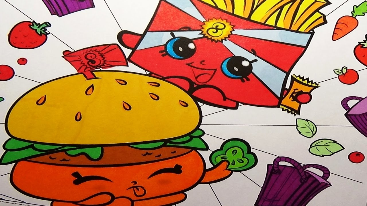 Shopkins coloring book pages wise fry and cheddar coloring fun art for kids