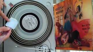 wood glue method for cleaning vinyl records