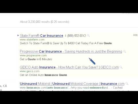 Search Engine Results – Uninsured Car Insurance Quote Domain