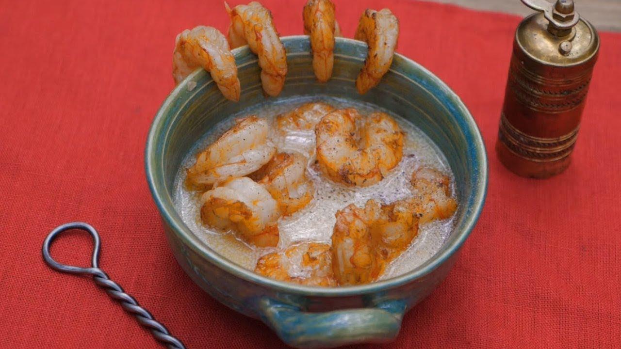 Open Fire Shrimp With Black Pepper Butter Sauce - 1600's Recipe