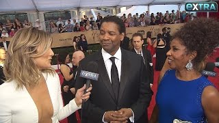Denzel Washington Praises Wife at SAG Awards: 'I Got a Good Woman'