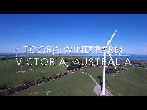 Our World by Drone in 4K - Toora Wind Farm, Victoria, Australia