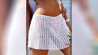 Как связать пляжную юбку