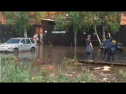 Потоп 2020 Опалиха, Красногорск, Московская область.