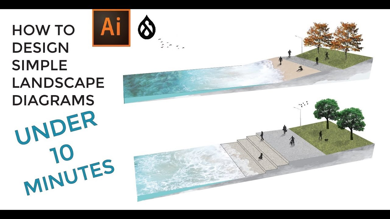 landscape architecture diagram sketchup to illustrator [ 1280 x 720 Pixel ]