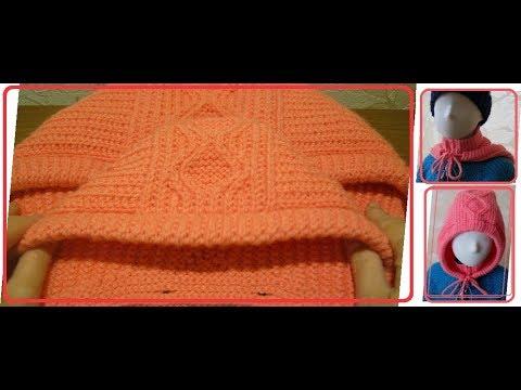 Кофта для девочки с капюшоном спицами 2 года