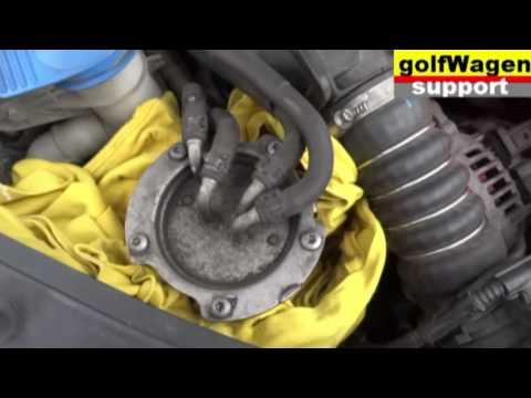VW 1.9 TDI Passat B6, Caddy, Golf change oil, air filter, fuel filter, cabin filter, reset service