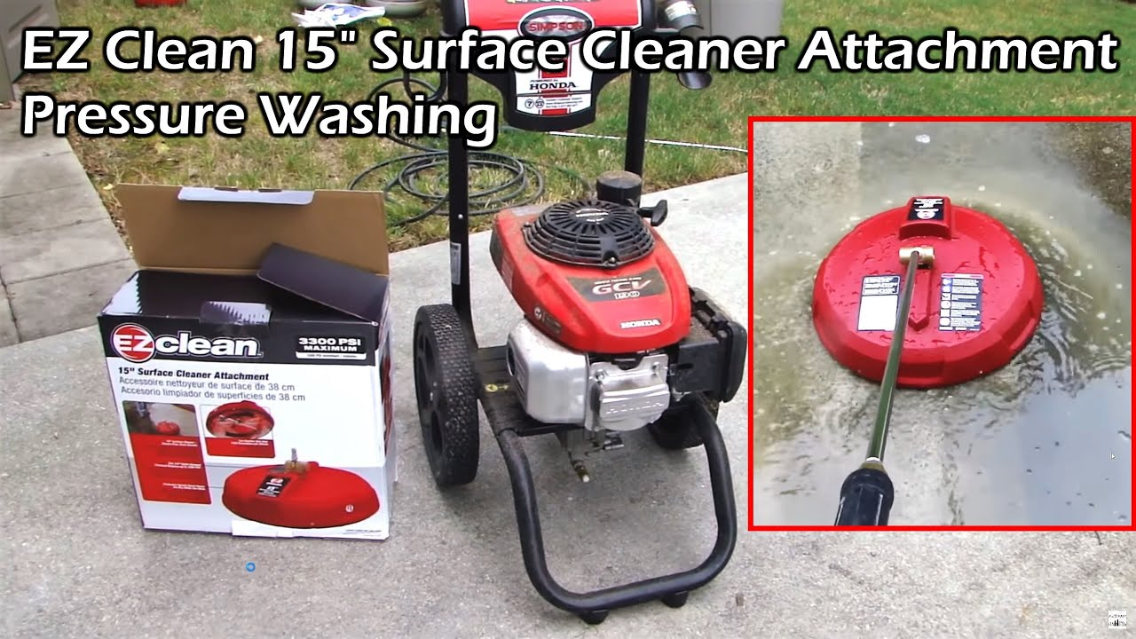 Pressure Wash The Driveway With 15 Surface Cleaner Ez Clean You