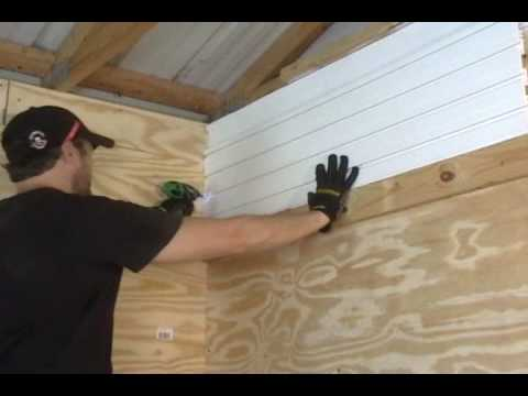 Garage Slat Wall Installation