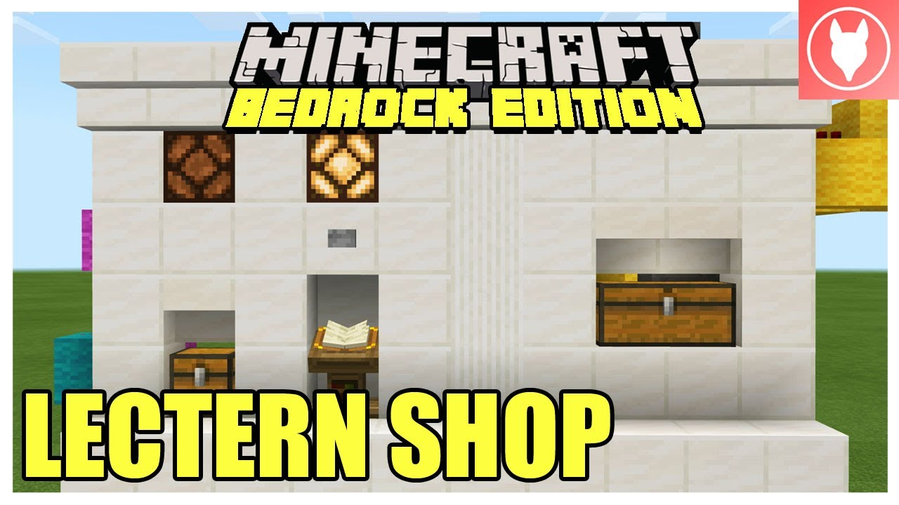 Minecraft Bedrock Lectern Shop Tutorial Lectern Store Xbox Mcpe Windows 10 Switch Youtube