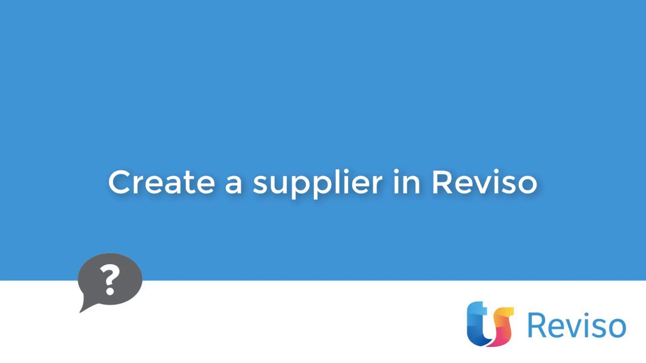 Download Create a supplier in Reviso