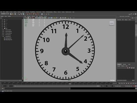 Automate a Clock in Maya