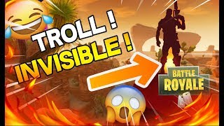 JE TROLL UN MEC EN ETANT INVISIBLE !! GLITCH FORTNITE