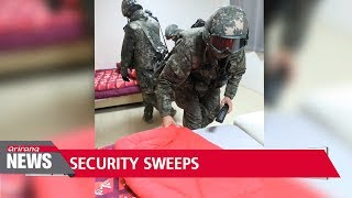 PyeongChang Counter-Terrorism & Safety Center holds security sweep to ensure safety